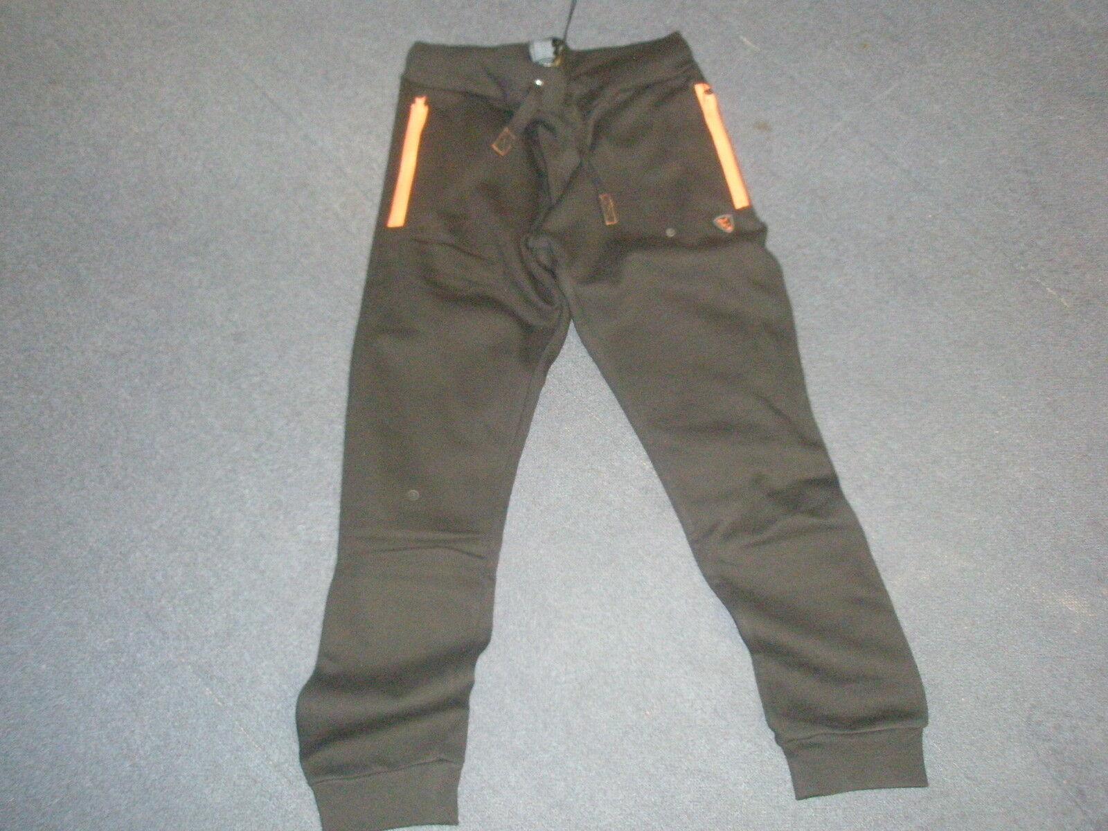 Fox Chunk Standard Jogger Schwarz Schwarz Schwarz   Orange Medium Karpfenangeln Ausrüstung 7ebe34