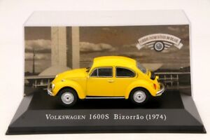 1-43-Altaya-Volkswagen-1600S-Bizorrao-1974-Diecast-Models-Cars-Collection-Yellow
