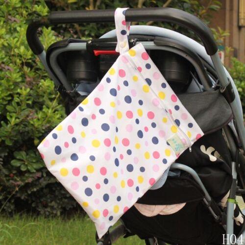 Babywindel wiederverwendbarer Reißverschluss wasserdichte Wickeltasche Neu xjx2