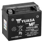 Yuasa YTX12-BS 12V 10Ah Batería para Motocicleta - Negra