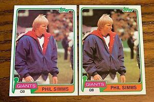 1981 Topps #55 Phil Simms - Giants  (2)