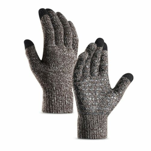 Men Women Touch Screen Gloves Winter Warm Fleece Lined Thermal Knitted Fashion