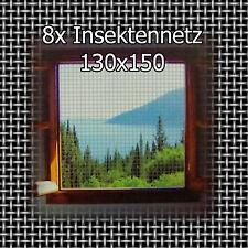 8x Fliegengitter 130x150cm waschbar Insektennetz Fenster Schwarz Mücken Netz