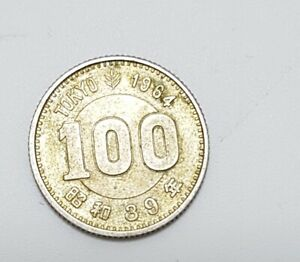 1964 Japan 100 YEN Uncirculated Japanese Tokyo Summer Olympic Games Silver Coins