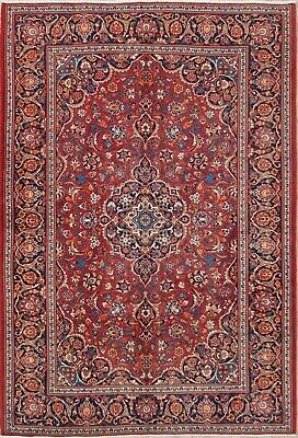 Home & Garden Antique Vegetable Dye Floral Kaashan Persian Oriental Red Area Rug Wool 5x7ft Utmost In Convenience