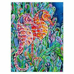 Americanflat 500 Piece Jigsaw Puzzle, 18x24 Inches, Seahorses Art by Eve Izzett