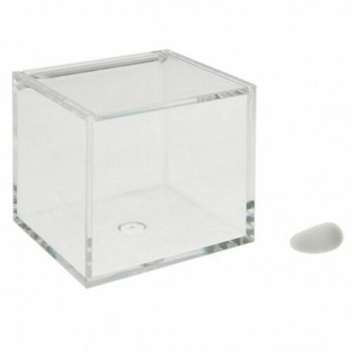 Box Mandeln Beutel IN Plexiglas 8x8x8 CM Bonboniere 0XAX