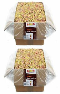 25kg Mixed 4 seasons suet feed pellets berry, insect, peanut & mealworm FREE P&P