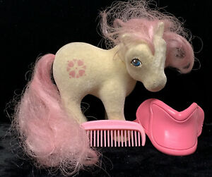 Vintage-1985-My-Little-Pony-G1-So-Soft-Sundance-MLP-Loose-with-Saddle-and-Comb