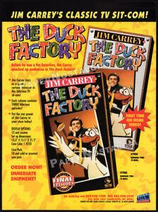THE-DUCK-FACTORY-Original-1995-Trade-print-AD-TV-series-video-promo-JIM-CARREY