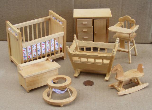 Dolls House Miniature Nursery Set