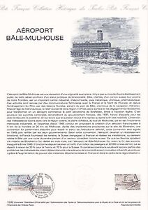 Document-Philatelique-Timbre-1er-Jour-13-03-1982-Aeroport-Bale-Mulhouse