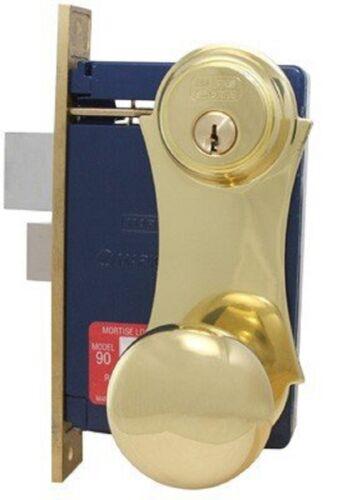 Marks 21AC//3 LHR Heavy Duty Mortise Lockset Brass Iron Gate Double Cylinder