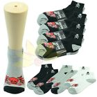 12 Pairs Ankle & Quarter Crew Mens Socks Cotton low cut Size 9-13 Skull Design