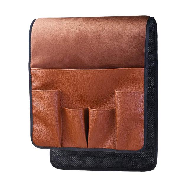 Hanging Sofa Side Storage Bag Remote Control Holder Organizer 5 Pockets Pouch