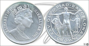 Gibraltar-KM00069a-PROOF-1-Crown-1991-Olimpiada-Barcelona-92-28-28-gr-p