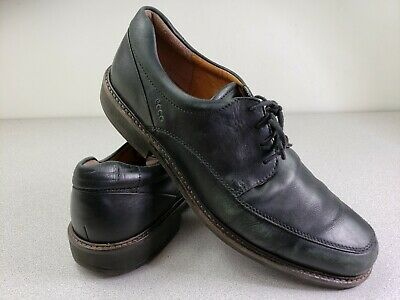 ecco casual dress black leather lace up loafer shoes sz 45