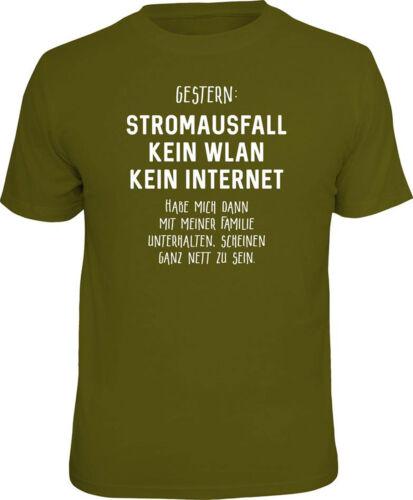 Panne de courant-pas de WLAN-T-shirt-Taille S M L XL XXL