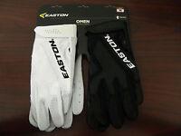 2012 Easton Omen Cage/game Adult Batting Gloves Medium // Black & White