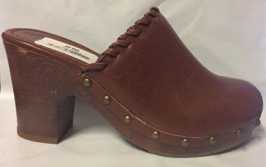 New Heels Women's JORE Lauren Clogs Heels New Slip On Brown Shoes Sz 10 3c0dc6