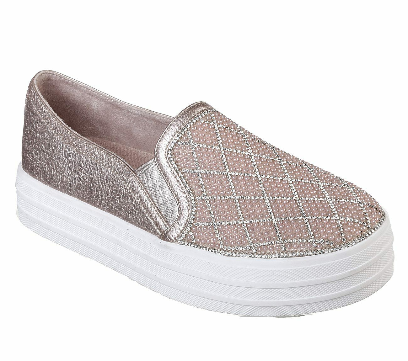 Skechers Double Up - Diamond Dancer Trainers Femme Memory Foam Jewel Chaussures 757