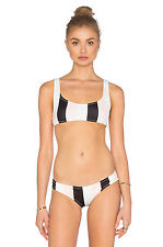 NEW Solid & Striped Elle Caffe Latte Pink Stripe Bikini Top - Size M