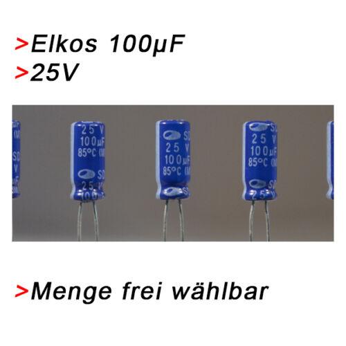 hasta 25v elkos elektrolytkondensator 100µf UF Elko condensadores 100 µf 25v