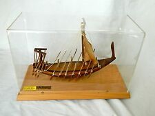 """Egyptian Wood Collectible Handmade Sail Boat Replica 13"""" X 6"""" X 8.5"""" (NEW!!!)"""