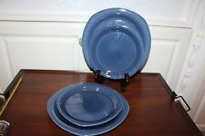a6cfed0e3909 item 1 World Market Set of 4 Blue Stoneware 2 Dinner Plates 2 Salad Plates  -World Market Set of 4 Blue Stoneware 2 Dinner Plates 2 Salad Plates
