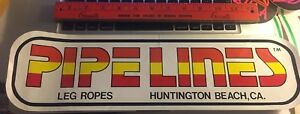 HUGE-Pipelines-Neon-80-039-s-Vintage-Surfing-Surf-STICKER-Leg-Rope-August-jacobs