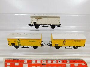 CD167-0-5-3x-Maerklin-H0-AC-307-Gueterwagen-DB-Bananenwagen-Jamaica-Kuehlwagen