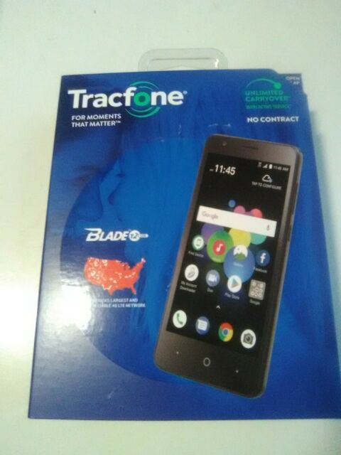 Tracfone ZTE Blade T2 Lite 4G LTE Prepaid Cell Phone New Sealed