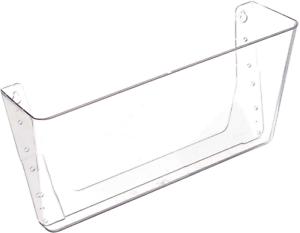 Folder Holder Rack Wall Mount Hanging File Organizer Storage Mesh Clear