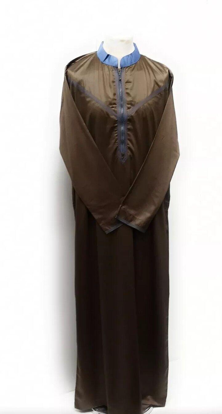 Exklusiv Frontreißverschluss Frontreißverschluss Frontreißverschluss Emaratee Emarati   Omani Thawb für Männer Größe 62 | Marke  | Gewinnen Sie das Lob der Kunden  41a50f