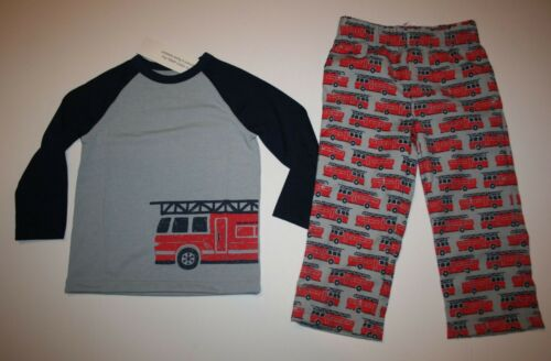 NEW Gymboree Boys Pajamas Gymmies PJs Red Fire Truck Loose Fit 3 4 5 6 7 8 year