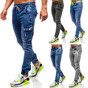 Jeans Jogger Freizeithose Hose Trainingshose Laufhose Herren