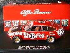 ALFA ROMEO 2000 GTV #32 SPA 1976 ANDRUET DINI GARDEN STORES LIEGE M4 7157 1/43