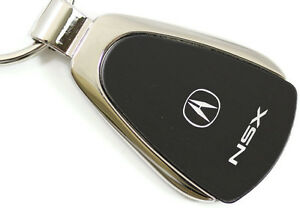 Acura NSX Black Teardrop Authentic Logo Key Ring Fob ...