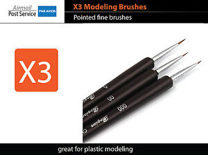 X3-Modeling-Brush-Pointed-Craft-Tool-Plastic-Model-Figure-Paint-fine-fit-tamiya