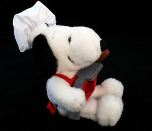 Singapore-Airlines-Peanuts-Chef-Snoopy-Plush-Promotional-Collectable-Soft-Toy