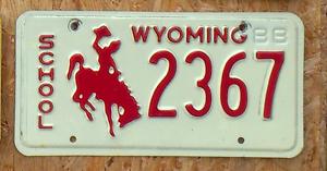 Original-Wyoming-88-034-School-034-US-Nummernschild