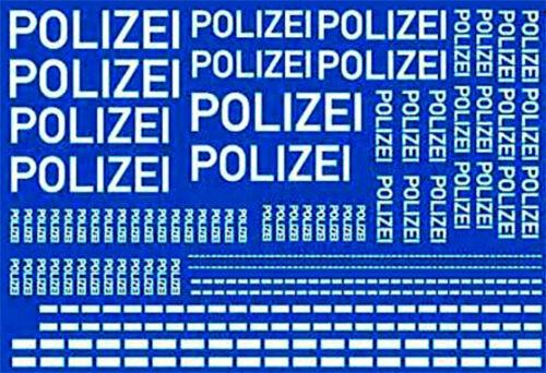 Policía estampados Weiss German Police decal White 1:43