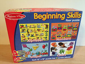 Melissa doug beginning skills 48 piece floor puzzle 100 for 100 piece floor puzzles