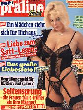 Kult-Illustrierte PRALINE  Nr. 48  v. 1989, Seitensprung -  Frauen tun es früher