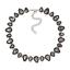 Strass-Tropfen-Glamour-Design-Kette-Halskette-Collier-Silber-Plattiert-Neu Indexbild 12