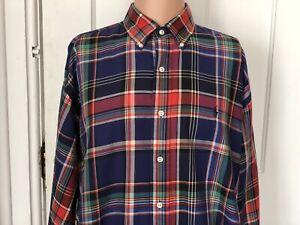 Ralph-Lauren-Blake-Shirt-Mens-Size-Large-Long-Sleeve-L-Blue-Check-Plaid