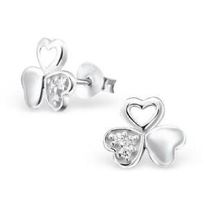 bd0d09999 Image is loading Girls-ladies-925-sterling-silver-studs-earrings-triple-