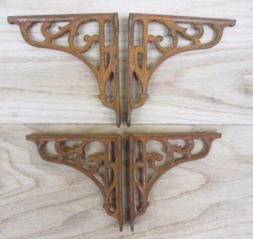 Pair of VINTAGE CLASSIC OLD VICTORIAN SCROLL SHELF BRACKETS BRACKET CAST IRON