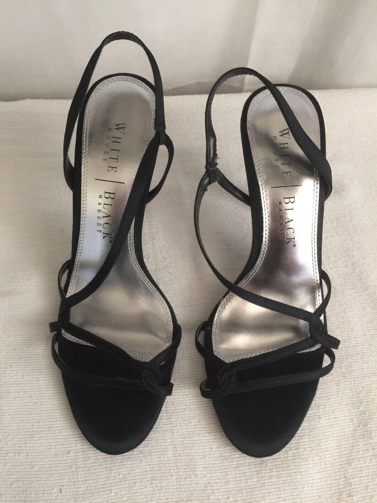white house black market Black Strappy Sandals  Amelia Size 6.5M
