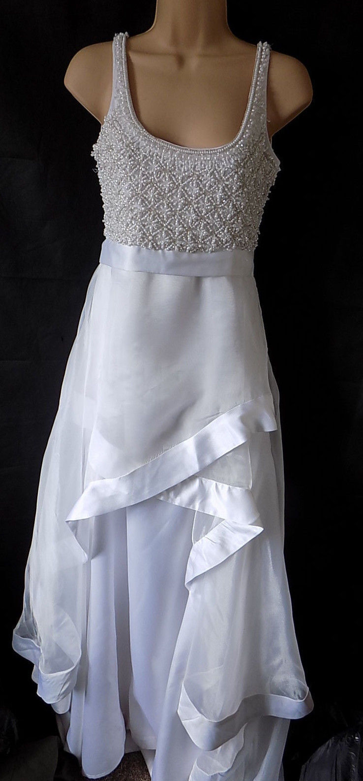 A Star Is Born Maxi Dress With Organza Ruffle UK size 8